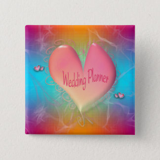 Bright Peachy Pink Wedding Planner button
