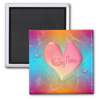 Bright Peachy Pink Wedding Planner magnet