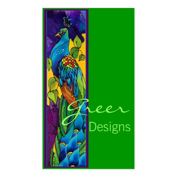 Bright Peacock Business Card