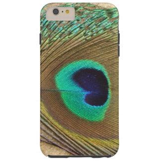 Bright peacock eye bird feather girly chic photo tough iPhone 6 plus case