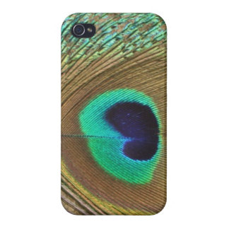 Bright peacock eye bird feather girly chic photo case for iPhone 4