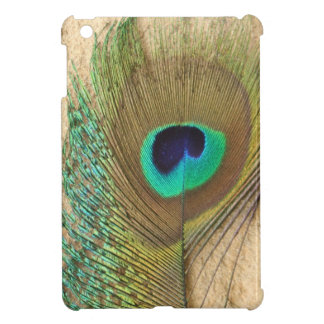 Bright peacock eye bird feather girly chic photo case for the iPad mini