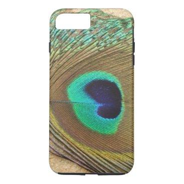 McTiffany Tiffany Aqua Bright peacock eye bird feather girly chic photo iPhone 8 plus/7 plus case