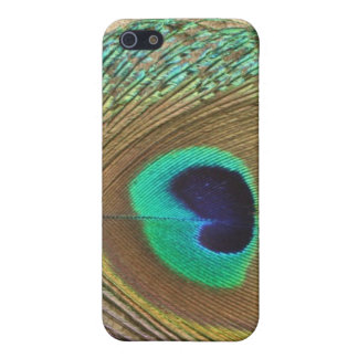 Bright peacock eye bird feather girly chic photo iPhone SE/5/5s case