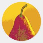 Bright Pear Round Stickers