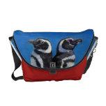 Bright Penguins Rickshaw Messenger Bag