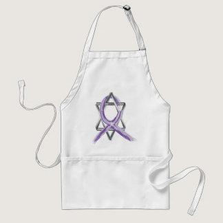 Bright Periwinkle Stomach Cancer Survivor Ribbon Adult Apron
