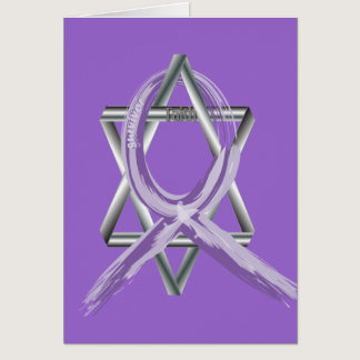 Bright Periwinkle Stomach Cancer Survivor Ribbon Card
