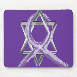 Bright Periwinkle Stomach Cancer Survivor Ribbon Mouse Pad
