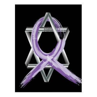 Bright Periwinkle Stomach Cancer Survivor Ribbon Postcard