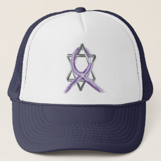 Bright Periwinkle Stomach Cancer Survivor Ribbon Trucker Hat