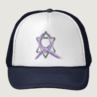 Bright Periwinkle Stomach Cancer Survivor Ribbon Trucker Hat