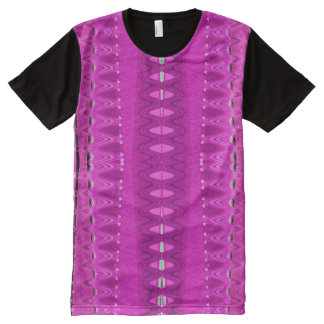 Bright Pink Abstract Design All-Over-Print Shirt