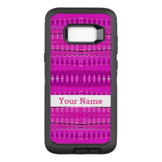 Bright Pink Abstract Pattern OtterBox Defender Samsung Galaxy S8+ Case