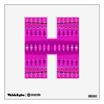 Bright pink abstract pattern wall decal
