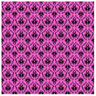Bright Pink and Black Damask pattern. Statuette