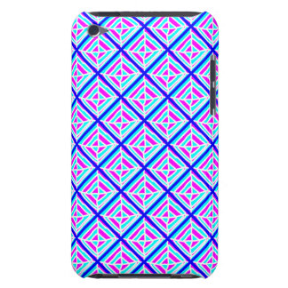 Bright Pink and Blue Square iPod Case
