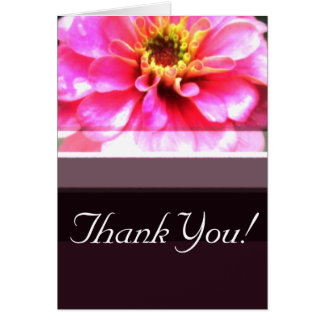 Bright Pink and Brown Card