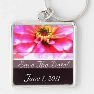 Bright Pink and Brown Keychain