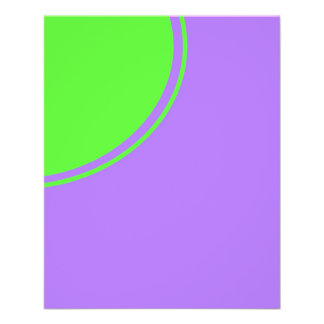 """Bright pink and green mod circle 4.5"""" x 5.6"""" flyer"""