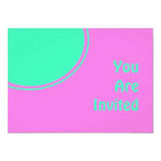 Bright Pink and Green Retro Party Invite
