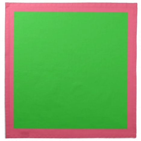 Bright Pink and Lime Green Napkins