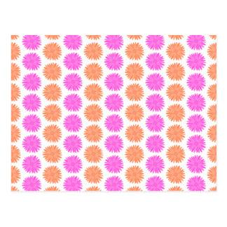 Bright Pink and Orange Flowers. Postcard