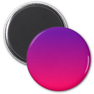 Bright Pink and Purple Ombre Fridge Magnet