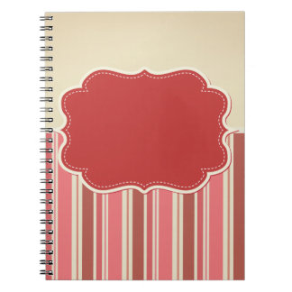 Bright Pink and Red Notebook
