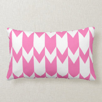 Bright Pink and White Chevron Pattern. Pillow