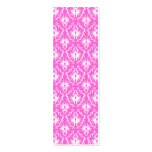 Bright Pink and White Damask pattern. Business Cards