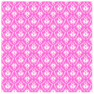 Bright Pink and White Damask pattern. Photo Sculpture Button