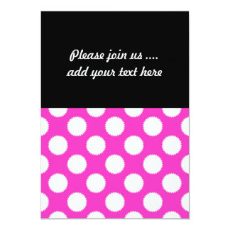 Bright Pink and White Fuzzy Polka Dot Card