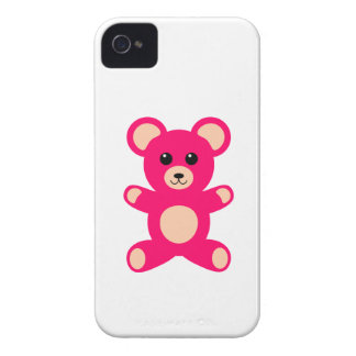 Bright Pink Baby Teddy Bear iPhone 4 Cases