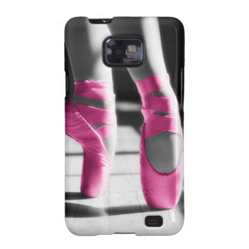 Bright Pink Ballet Shoes Galaxy S2 Cover