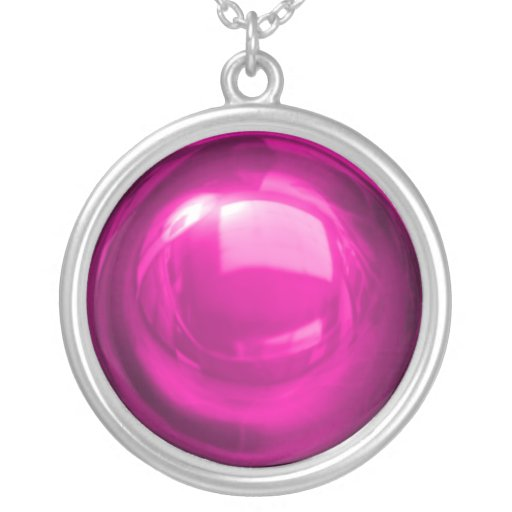Bright Pink Bauble Necklace