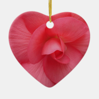 Bright Pink Begonia Ornament