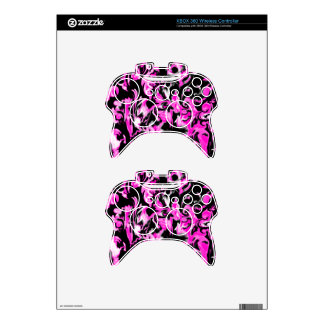 Bright Pink, Black and White mix -SK- Xbox 360 Controller Skins
