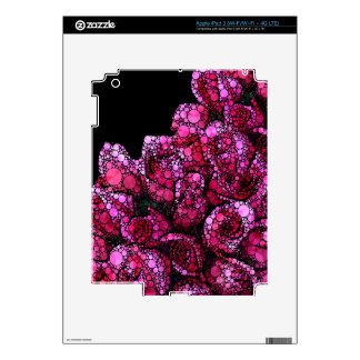 Bright Pink Bling Roses Decal For iPad 3