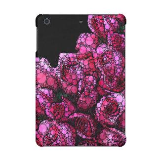 Bright Pink Bling Roses iPad Mini Retina Cover
