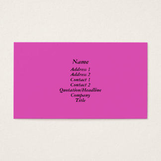 Bright pink business card