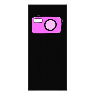 Bright Pink Camera. On Black. Rack Cards