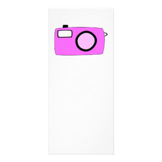 Bright Pink Camera. On White. Rack Cards