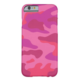 Bright Pink Camo Pattern   Barely There iPhone 6 Case