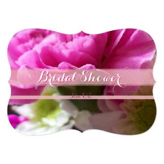 Bright Pink Carnation Bridal Shower 2 Card