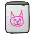 Bright Pink Cat iPad Sleeves