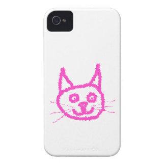 Bright Pink Cat iPhone 4 Cases