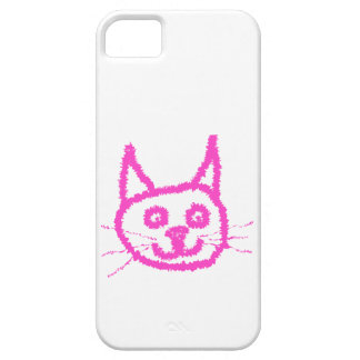 Bright Pink Cat iPhone 5 Cover