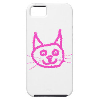 Bright Pink Cat iPhone 5 Covers