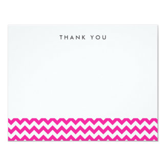 Bright Pink Chevron Thank You Note Cards